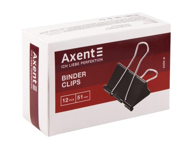 Биндеры набор 12 шт. Axent черные 51 мм 4405-A