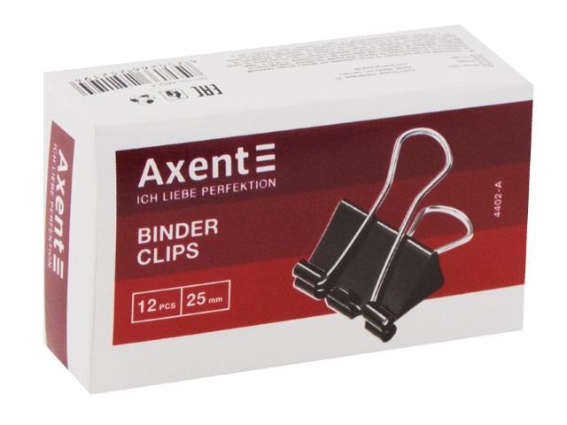 Биндеры набор 12 шт. Axent 25мм черные 4402-A