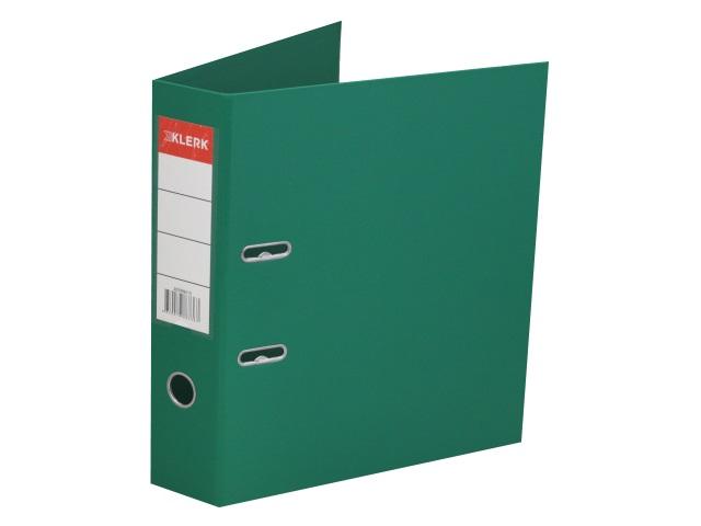 Регистратор  А4/75 Klerk зеленый с металлической окантовкой 205996-15