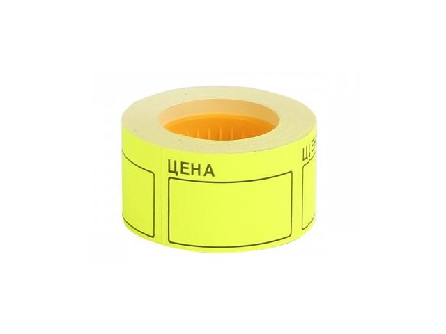 Ценник 50*35 мм 200 шт. желтый DeVente 2061501