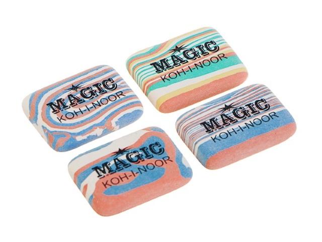 Ластик KIN 6516/40 Magic цветной прямоугольный 35*25*7мм