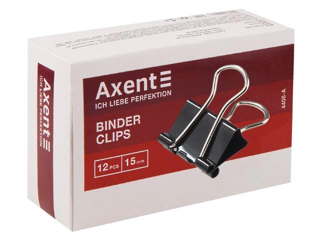 Биндеры набор 12 шт. Axent 15мм черные 4408-A