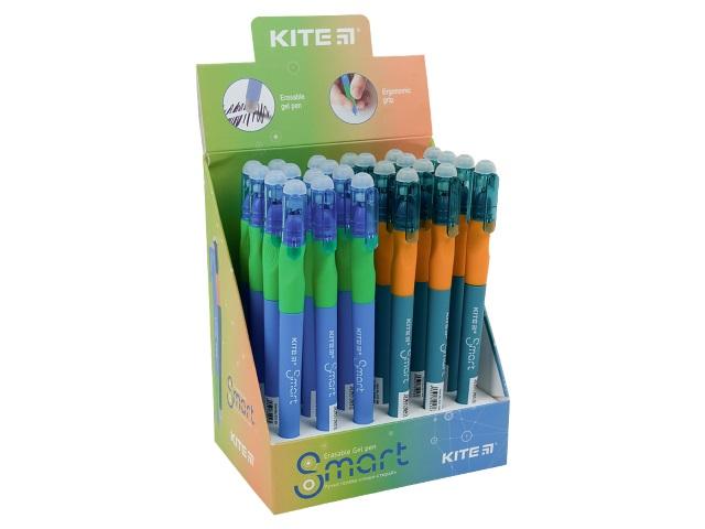 Ручка пиши-стирай Kite Smart-2 гелевая синяя 0.5мм K21-098-02