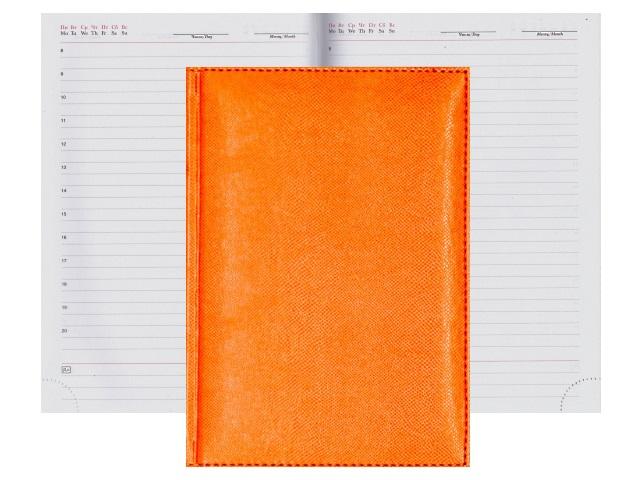 Ежедневник А5 кожзам 160л Апплика Diario оранжевый С0360-227