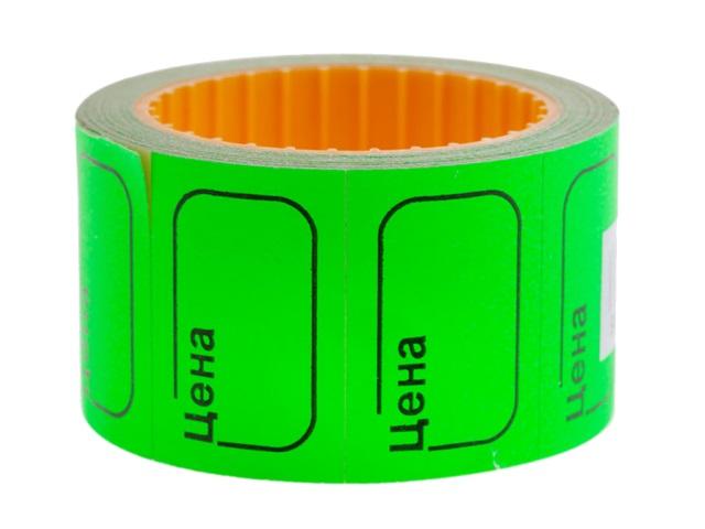 Ценник 30*20 мм 200 шт. зеленый Ligamarket НФ-00002295