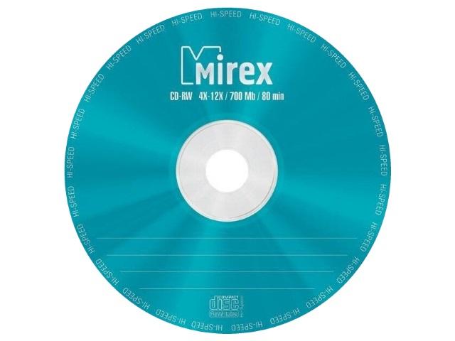 Диск CD-RW Mirex Bulk 700Mb 4-12х