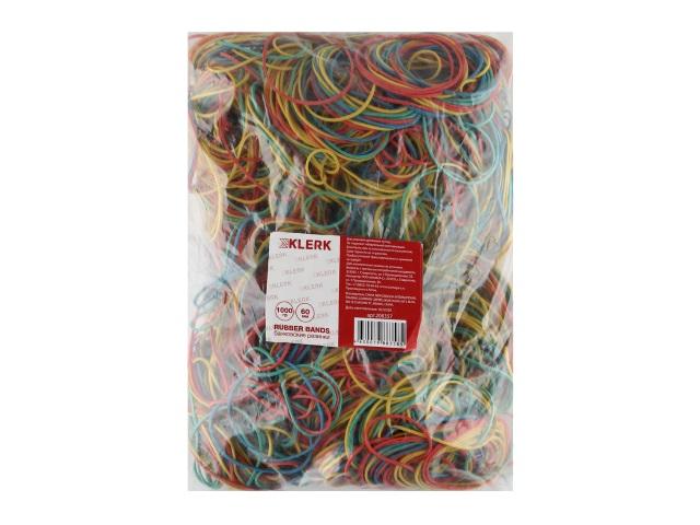 Резинки для денег 1000г Klerk d=6см цветные 206357