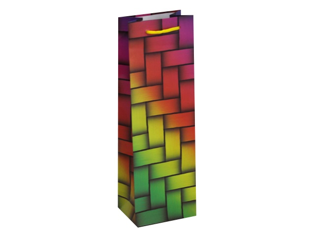 Пакет подарочный бумажный под бутылку Miland Яркие краски ПКП-7339