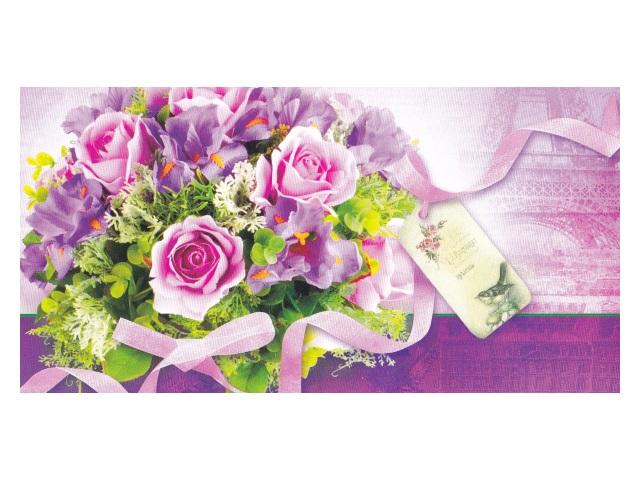 Конверт для денег Miland Букет розовых роз 1-04-0064