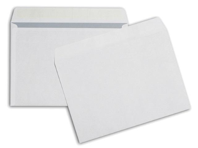 Конверты 25 шт. С4 СК (стрип) 22.9*32.4см белые с отрывной лентой 90 г/м2 Эмика 3657