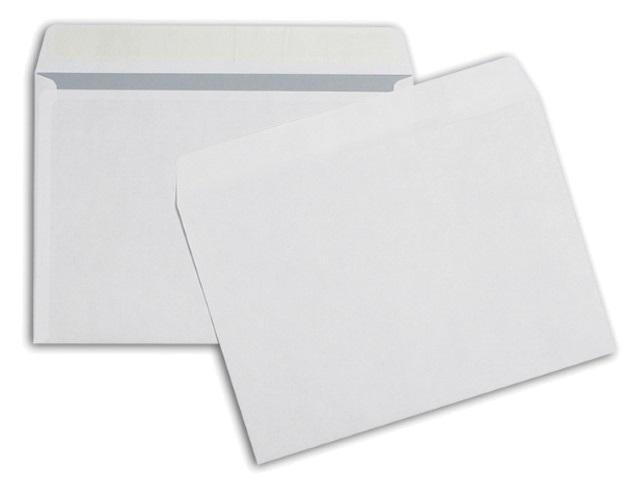 Конверты 50 шт. С5 СК (стрип) 16.2*23см Officepost белые с отрывной лентой 80 г/м2 Эмика 2781