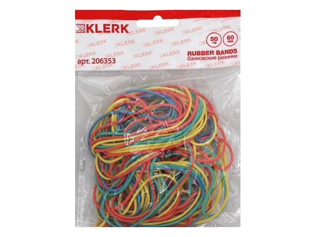 Резинки для денег   50г Klerk d=6см цветные 206353