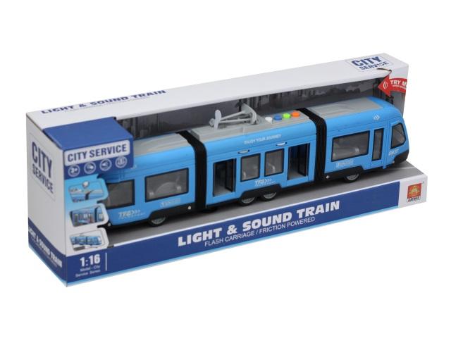 Трамвай City Service 48см со звуком и светом 1964661