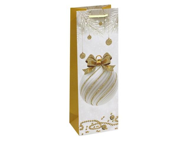 Пакет подарочный бумажный под бутылку Miland Красивый шар ПКП-2592