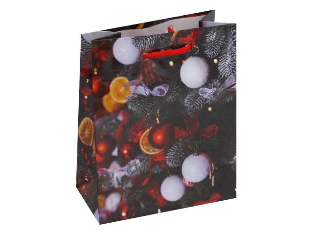 Пакет подарочный бумажный 11.5*14.5*6см Optima Волшебство Нового года ПКП-6087
