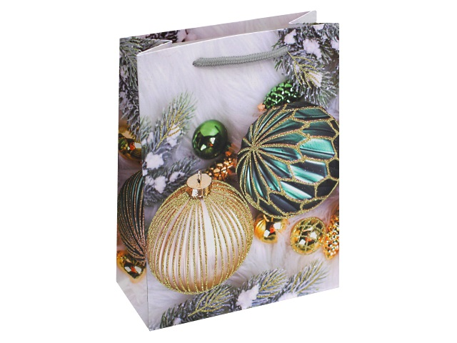Пакет подарочный бумажный 18*24*8.5см Miland Стильные елочные украшения ПКП-2530