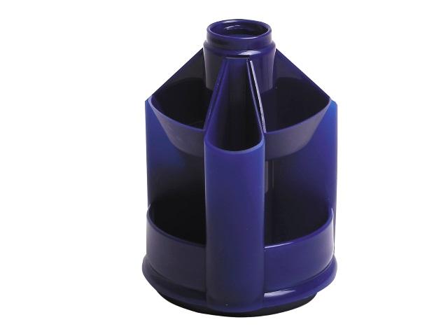 Подставка-органайзер 10 отделений Стамм MiniDesk синяя ОР73
