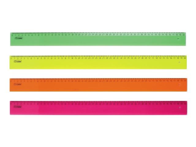 Линейка  50 см Стамм Neon цветная ЛН93