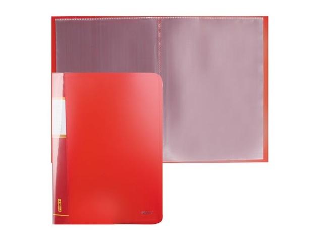 Папка с файлами 20 файлов А4 красная, Proff Next DB20AB-01
