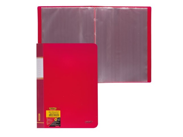 Папка с файлами 30ф., А4, красная, Proff Next