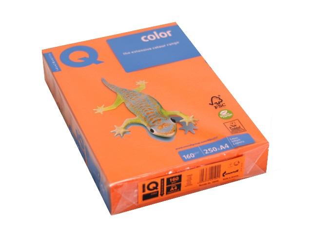 Бумага А4 160 г/м2 250 л. IQ Color интенсив оранжевый OR43 156092