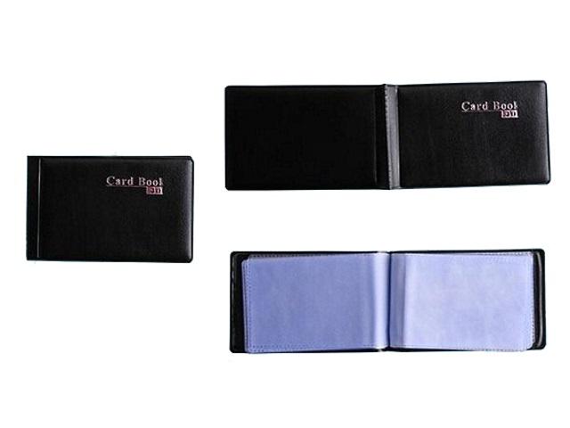 Визитница на 40 карт 6.5*10.5 см кожзам черная Basir МС-1576