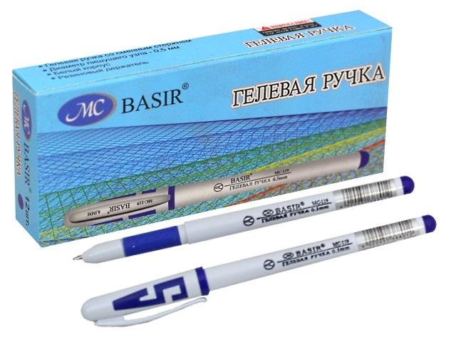 Ручка гелевая Basir МС-119 синяя 0.5мм