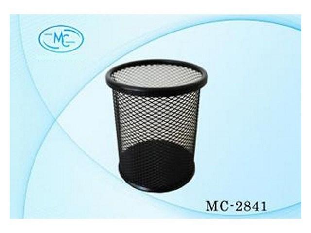 Стакан для ручек металл сетка черный круглый Basir МС-2841