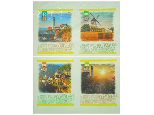Тетрадь в клетку 80 листов Символы мира, Prof Press 80-2364