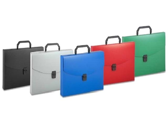 Портфель А4  1 отделение пластик цветной на замке Бюрократ BPP01