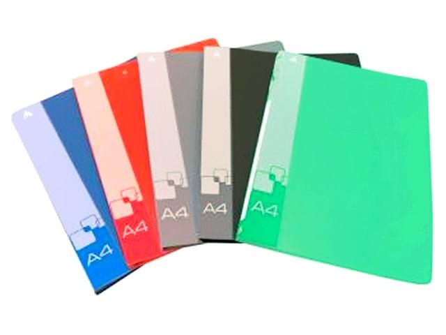 Папка-скоросшиватель с карманом А4 Бюрократ 0.7мм цветная PZ07P