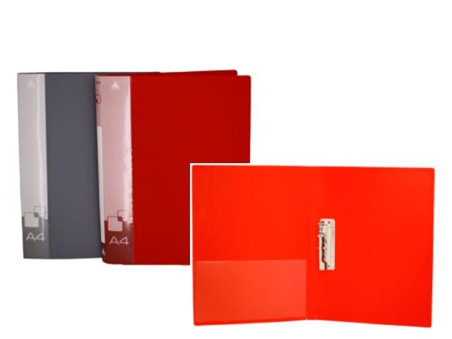 Папка с зажимом и карманом А4 Бюрократ 0.7мм цветная PZ07C