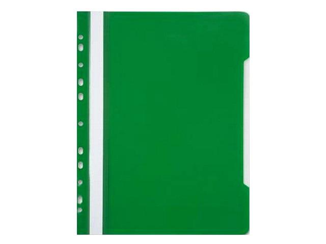Скоросшиватель А4 с европерфорацией зеленый глянцевый Бюрократ PS-P20GRN
