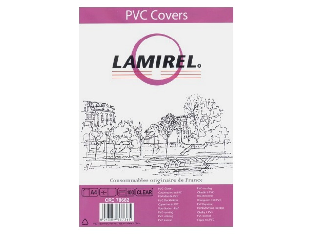 Обложки для брошюровки пластиковые, прозрачные, А4, 150 мкм, 100 шт., Transparent, Lamirel