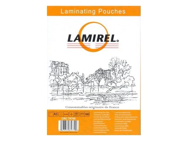 Пленка для ламинирования А5 100мкм Lamirel 154*216мм 100шт CRC-78766