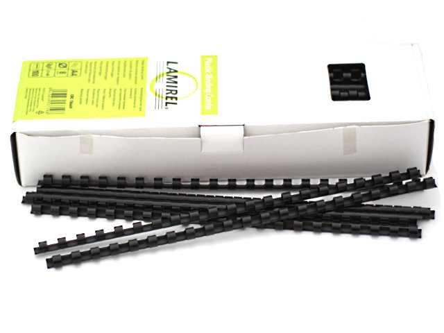 Пружины для брошюровки  8 мм черные 100 шт. Lamirel LA-78669