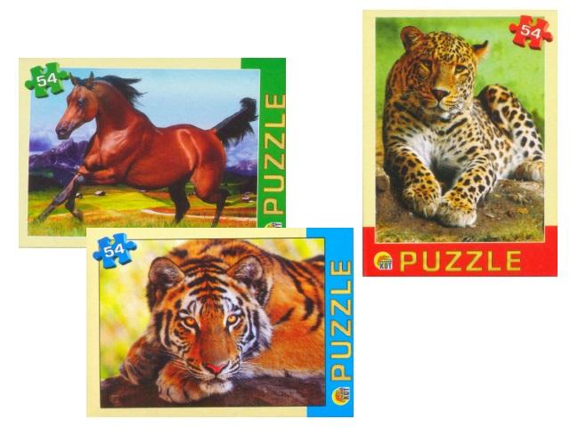 Пазлы   54 детали Дикие животные П54-2549