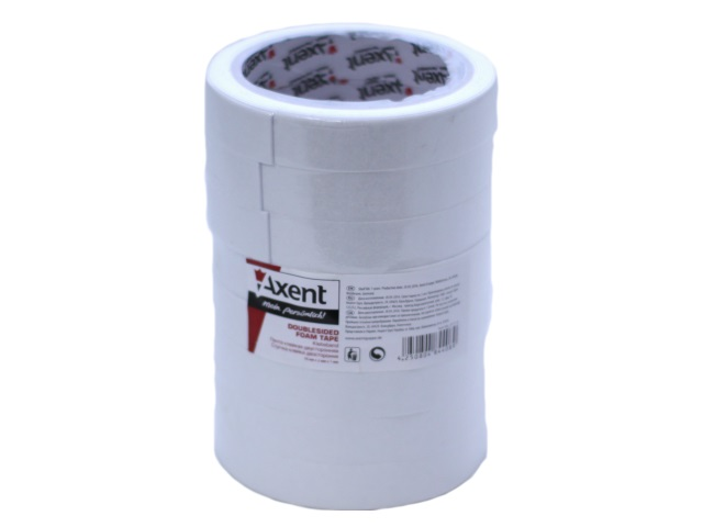 Скотч двухсторонний пена 18* 2м Axent 3111-A