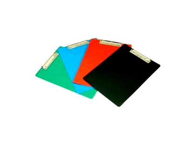 Планшет А4 пластик Бюрократ цветной PD6002