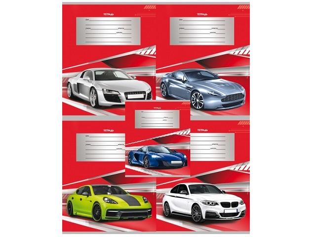 Тетрадь в линию 24 листа Авто на красном, Prof Press 24-2716