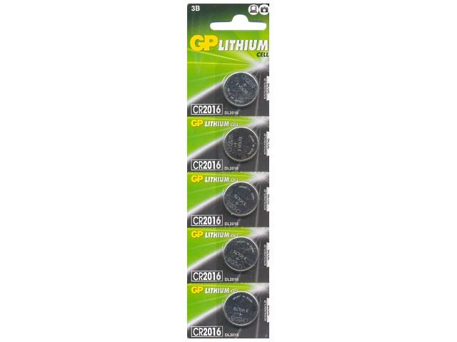 Батарейка таблетка CR2016 GP 3V Lithium литиевая