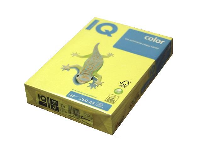 Бумага А4 160 г/м2 250 л. IQ Color пастель желтый YE23
