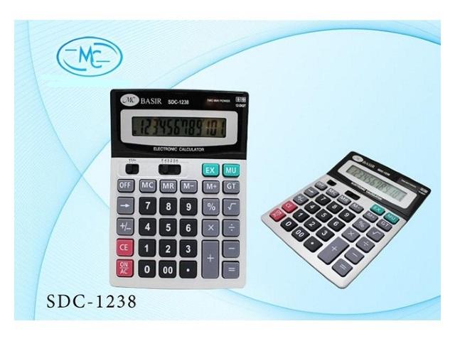Калькулятор 12-разрядный Basir серый 19*14 см SDC-1238