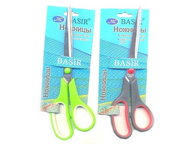 Ножницы 24 см прорезиненные ручки Basir МС-500