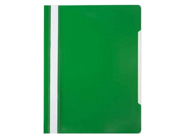Скоросшиватель А4  зеленый глянцевый Бюрократ PS20GRN
