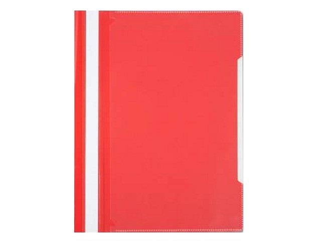 Скоросшиватель А4 красный глянцевый Бюрократ PS20RED