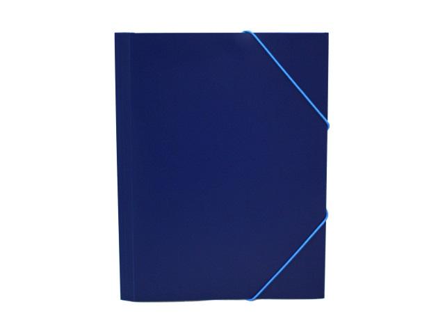 Папка на резинке А4 Бюрократ синяя PR05blu