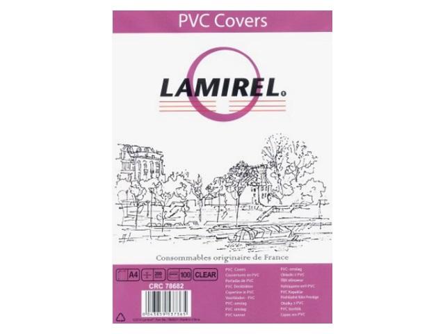 Обложки для брошюровки пластиковые, прозрачные, А4, 200 мкм, 100 шт., Transparent, Lamirel
