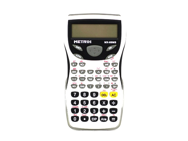 Калькулятор 12-разрядный Metrix белый 15*8 см Научный MX-88M