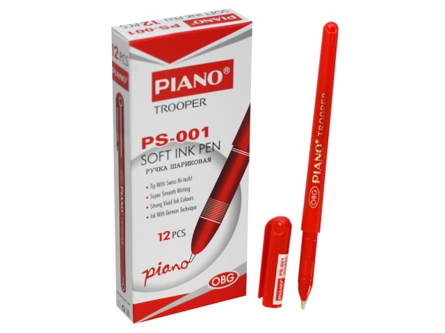 Ручка шариковая Piano Trooper красная 0.5мм PS-001